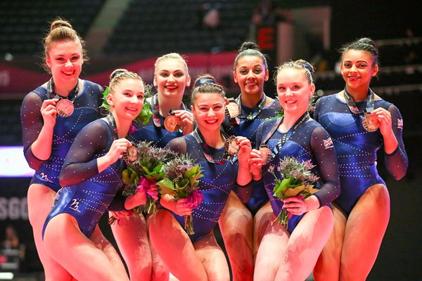 Great Britain Women's Team Bronze 2015 World Gymnastics