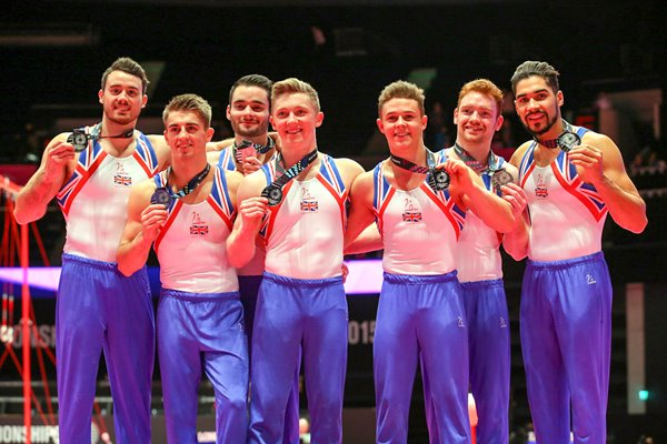 Great Britain Team Silver 2015 World Gymnastics