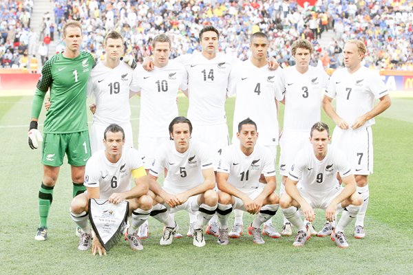 New Zealand team v Italy Word Cup 2010