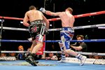 Carl Froch knockout punch v George Groves Wembley 2014 Prints