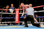 George Groves after Carl Froch knockout punch Wembley 2014 Prints