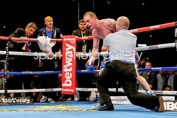 George Groves after Carl Froch knockout punch Wembley 2014
