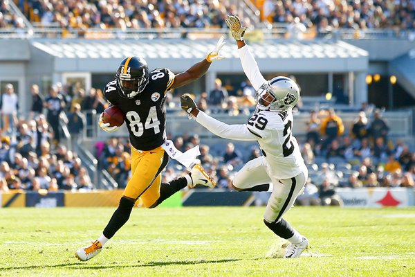 Antonio Brown Pittsburgh Steelers v David Amerson Oakland Raiders