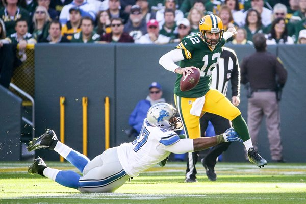 Aaron Rodgers Green Bay Packers v Lions 2015
