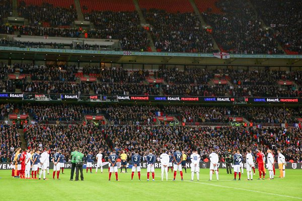 England v France Paris Tribute Wembley November 2015