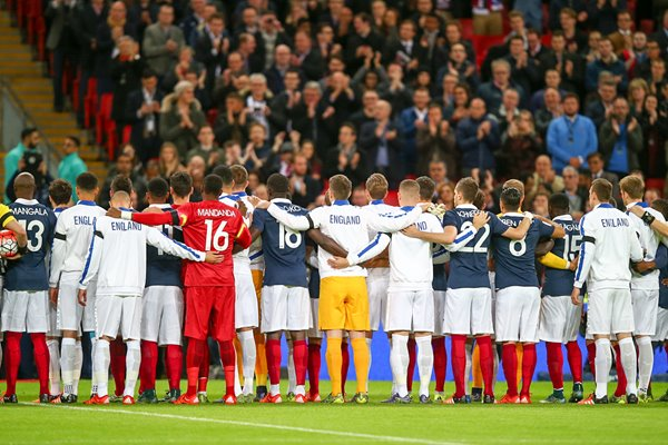 England v France Solidarity Wembley Stadium 2015