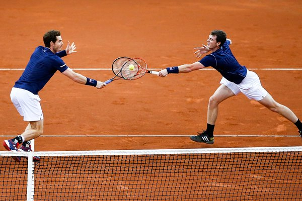 Andy & Jamie Murray Great Britain Davis Cup Final 2015