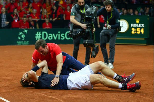 Andy Murray & Leon Smith Great Britain: Davis Cup Winners 2015