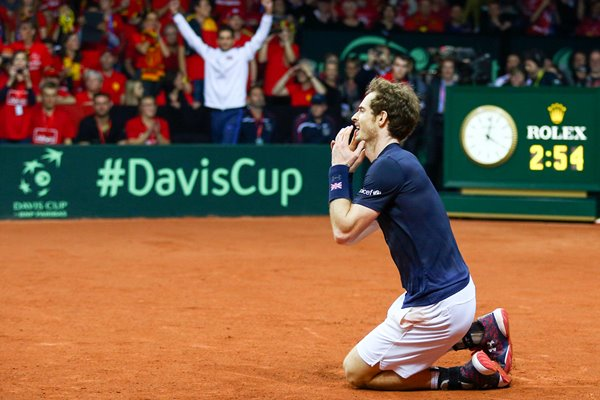 Andy Murray David Cup 2015 Victory Moment