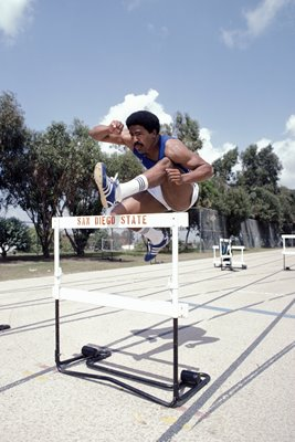 Daley Thompson trains San Diego 1982