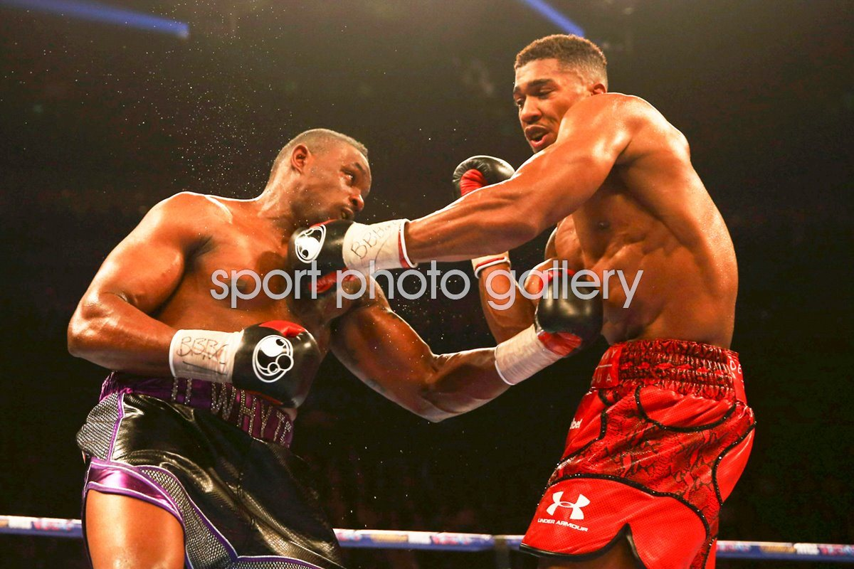 Dillian Whyte battles v Anthony Joshua London 2015