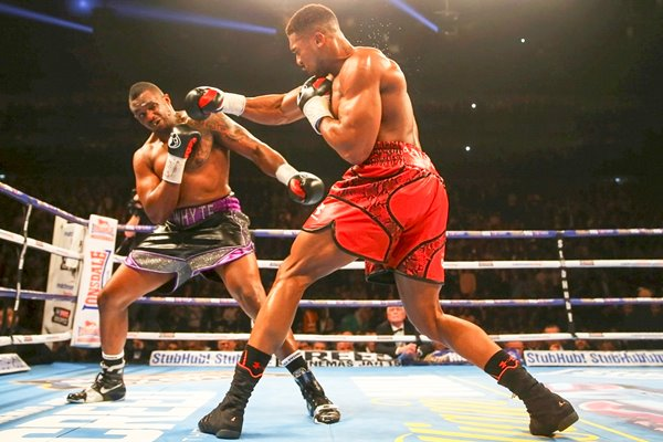 Anthony Joshua beats Dillian Whyte London 2015