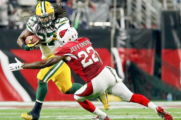 Eddie Lacy Green Bay Packers v Tony Jefferson Arizona Cardinals