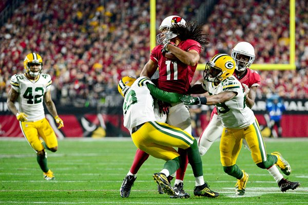 Larry Fitzgerald #11 Arizona Cardinals v Green Bay Packers