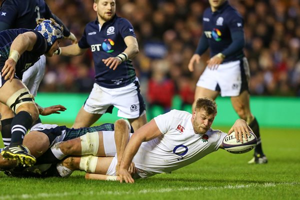 George Kruis England scores v Scotland 6 Nations 2016