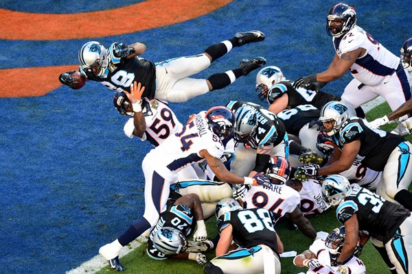 Jonathan Stewart Carolina Panthers Touchdown Super Bowl 50