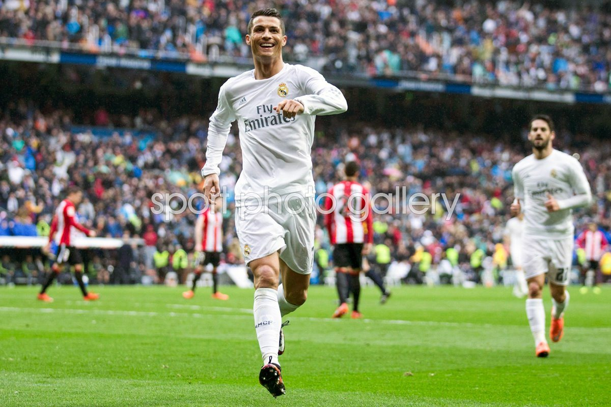 Cristiano Ronaldo Real Madrid celebrates