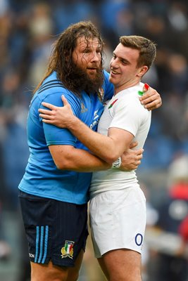 Martin Castrogiovanni Italy George Ford England Rome 2016
