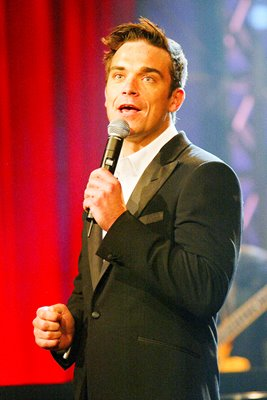 Robbie Williams performs