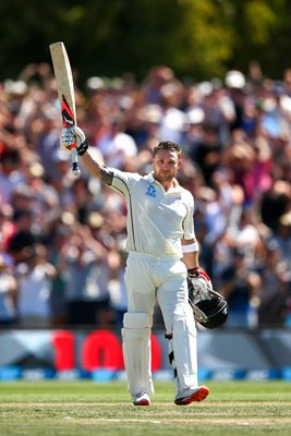 Brendon McCullum New Zealand celebrates his century