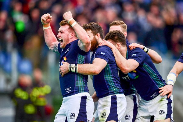 Stuart Hogg Scotland  Italy 6 Nations Rome 2016