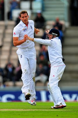Chris Tremlett celebrates Southampton 2011