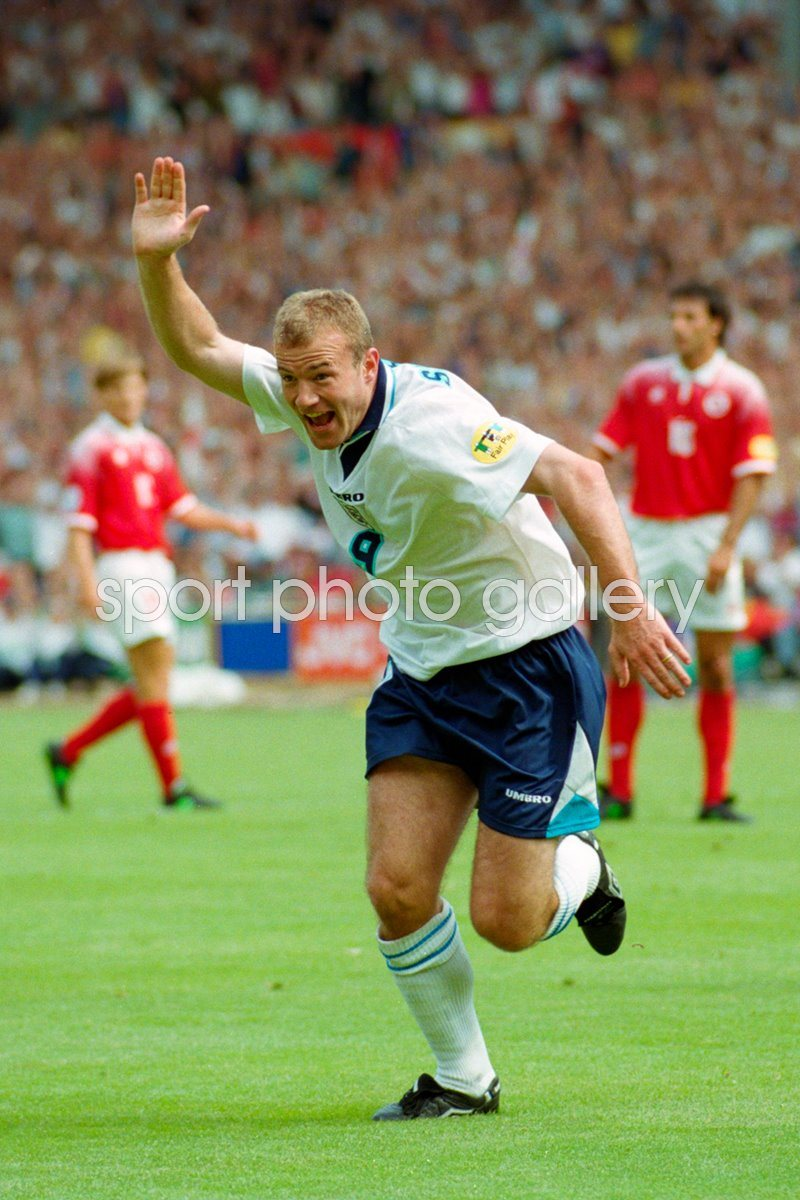 Alan Shearer England v Switzerland Euro 1996