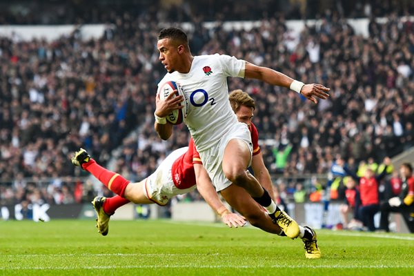 Anthony Watson scores England v Wales 6 Nations 2016