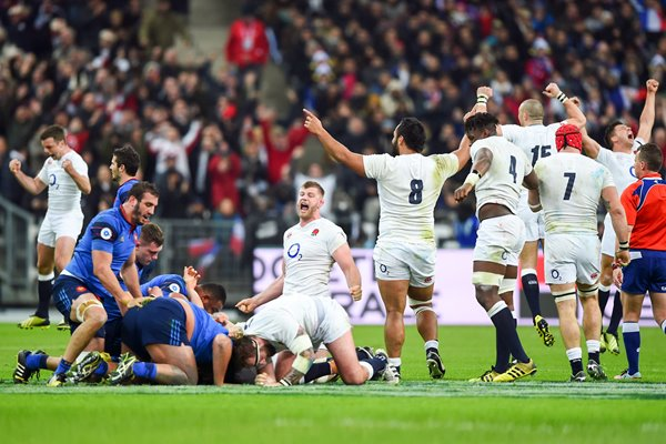 England Grand Slam Winning Moment Paris 2016