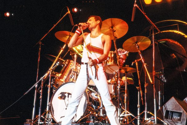 Freddie Mercury on stage 1982