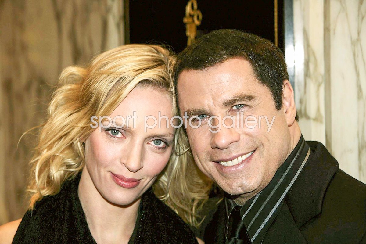 Actors Uma Thurman and John Travolta