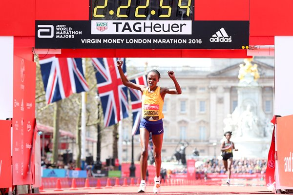Jemima Sumgong wins London Marathon 2016