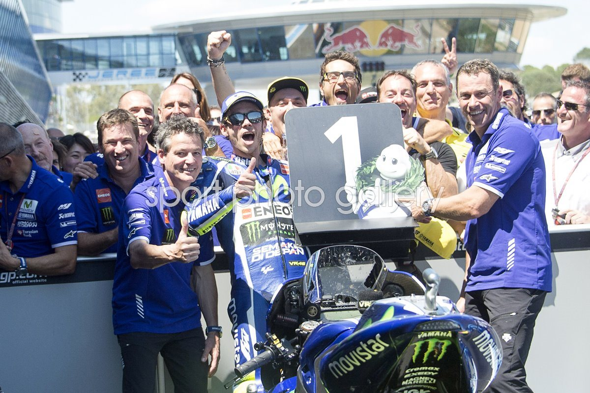 Valentino Rossi Spain Moto Gp Winner 2016