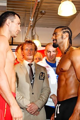 Wladimir Klitschko v David Haye - Weigh-In