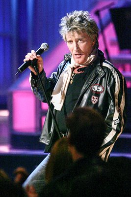 Rod Stewart performs