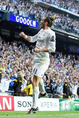 Gareth Bale Real Madrid goal celebration