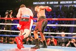Canelo Alvarez knock out punch v Amir Khan 2016 Prints