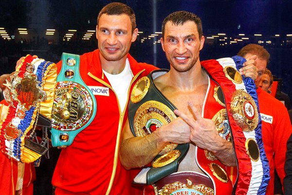 Wladimir & Vitali Klitschko after David Haye fight