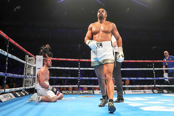 David Haye knocks down Arnold Gjergjaj O2 London 2016