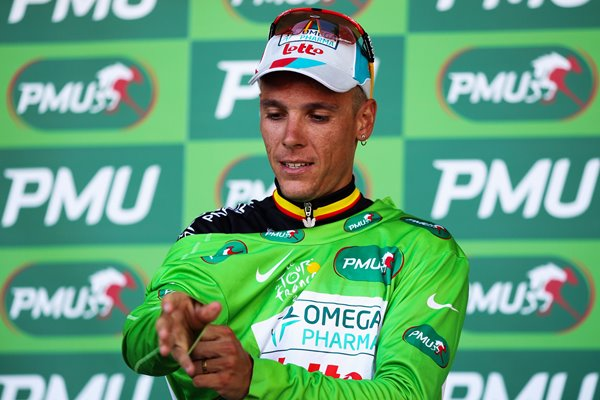 Philippe Gilbert Omega Pharma Green Jersey