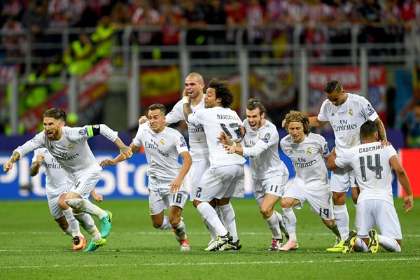 Real Madrid celebrate Champions League Victory 2016