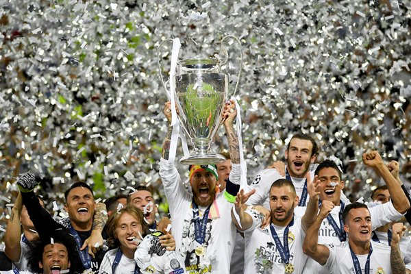Sergio Ramos Real Madrid Champions League Winners 2016