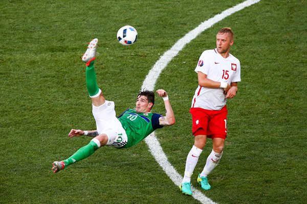 Kyle Lafferty Northern Ireland v Poland Nice 2016