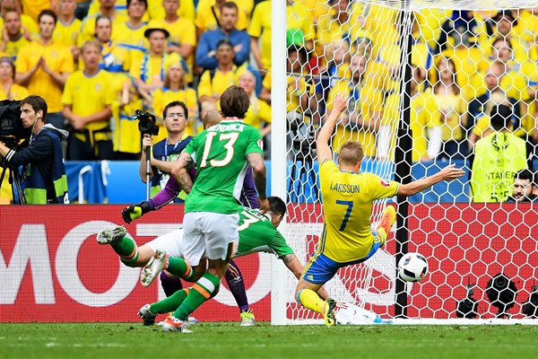 Ciaran Clark Ireland Own Goal v Sweden Paris 2016