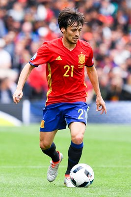 David Silva Spain v Czech Republic Toulouse Europeans 2016