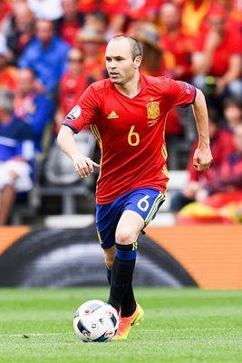Andres Iniesta Spain v Czech Republic Toulouse Europeans 2016