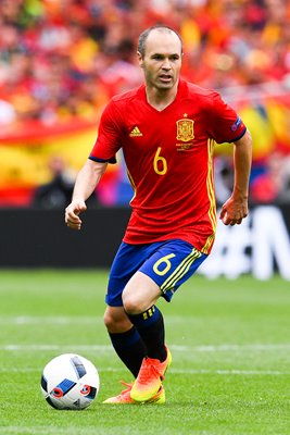 Andres Iniesta Spain v Czech Republic Toulouse 2016