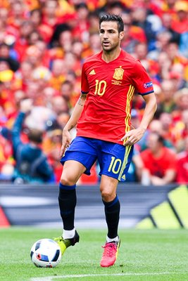 Cesc Fabregas Spain v Czech Republic Toulouse 2016