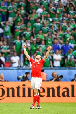 Gareth Bale Wales v Northern Ireland Paris 2016