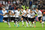 Germany team celebrate win v Italy 2016 Prints
